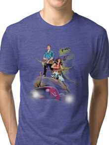 Cadillacs and Dinosaurs - Color Tri-blend T-Shirt