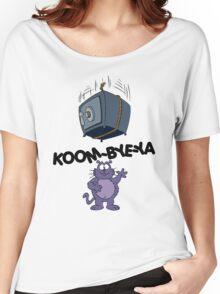 Eek the Cat - Falling Safe - Black Font Women's Relaxed Fit T-Shirt