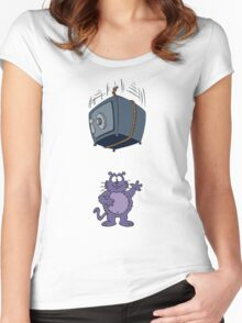 Eek the Cat - Falling Safe - No Font Women's Fitted Scoop T-Shirt