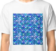 Blue watercolor scales Classic T-Shirt