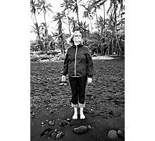 Black Sand Defiance Photographic Print
