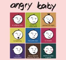 Angry Baby colour blocks Kids Tee