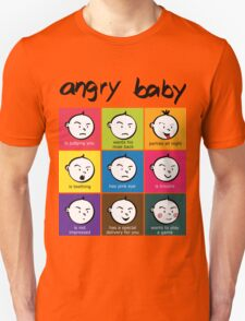 Angry Baby colour blocks T-Shirt