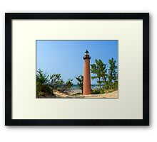 Lighthouse at Little Sable Point Framed Print