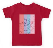Jem and The Holograms - Group Striped - Color Kids Tee