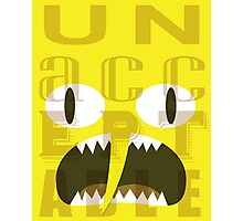 UNACCEPTABLE!!! Lemongrab Typography | adventure time Photographic Print