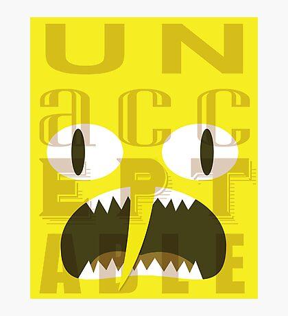 UNACCEPTABLE!!! Lemongrab Typography | adventure time Photographic Print