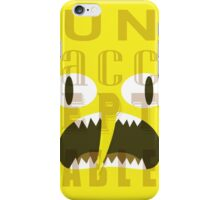 UNACCEPTABLE!!! Lemongrab Typography | adventure time iPhone Case/Skin