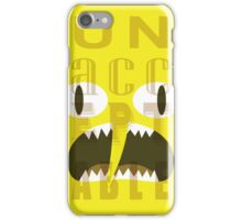 UNACCEPTABLE!!! Lemongrab Typography | adventure time iPhone Case/Skin