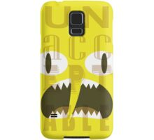 UNACCEPTABLE!!! Lemongrab Typography | adventure time Samsung Galaxy Case/Skin