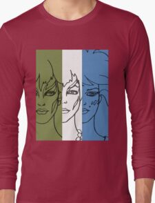 Jem and The Holograms - The Misfits Striped - Color Long Sleeve T-Shirt