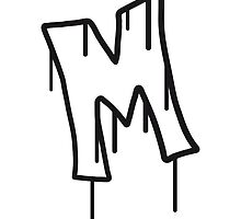 Letter M graffiti stamp by Style-O-Mat