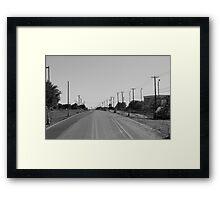 Empty Miles Framed Print