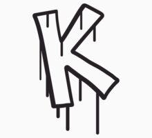 Letter K graffiti stamp T-Shirt