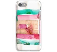 Asymmetrical Mandala - Small Abstract Landscape,  watercolor, ink & pencil on paper iPhone Case/Skin
