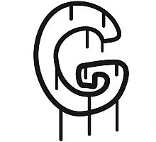 Letter G graffiti stamp Photographic Print