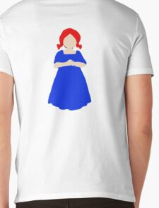 Cute Little Girl with Red Hair and a Blue Dress Mens V-Neck T-Shirt