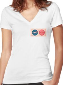 NASA - Critical Space Item Handle with Extreme Care (Front) Women's Fitted V-Neck T-Shirt