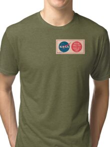 NASA - Critical Space Item Handle with Extreme Care (Front) Tri-blend T-Shirt