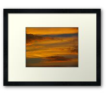 Da Vinci Sunset Framed Print