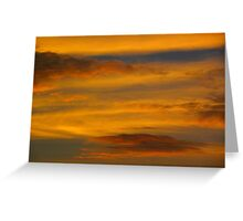 Da Vinci Sunset Greeting Card
