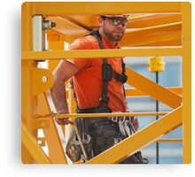 Patrick Dragos. Union Ironworker. Canvas Print