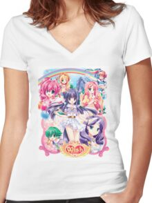 My Little Pony Anthro Women's Fitted V-Neck T-Shirt