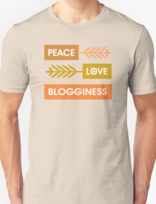 Peace, Love, Blogginess T-Shirt