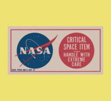 NASA - Critical Space Item Handle with Extreme Care (Back) Kids Tee
