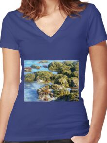 Killarney Beach, Vic. Australia Women's Fitted V-Neck T-Shirt