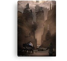 Dune Concept work.  The mountains of Arakis Canvas Print