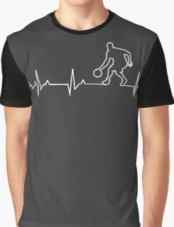 Basketball Heartbeat T-shirt & Hoodie Graphic T-Shirt