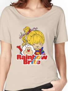 Rainbow Brite - Group - Rainbow & Twink - Large - Color Women's Relaxed Fit T-Shirt