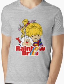 Rainbow Brite - Group - Rainbow & Twink - Large - Color Mens V-Neck T-Shirt