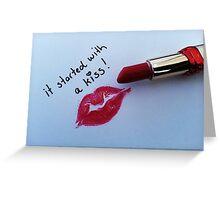 Sexy Lipstick Greeting Card