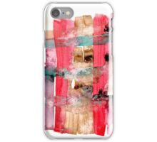 Asymmetrical Mandala 2 - Small Abstract Landscape,  watercolor, ink & pencil on paper iPhone Case/Skin