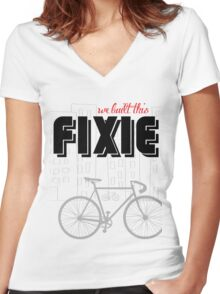 We built this Fixie Women's Fitted V-Neck T-Shirt