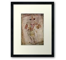 Clown in the Mirror Framed Print