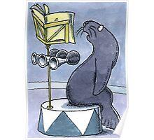 Performing seal Poster