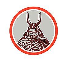 Samurai Warrior Katana Sword Attacking Photographic Print