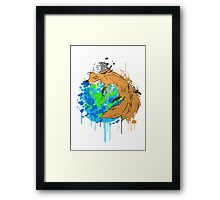 asleep on earth Framed Print