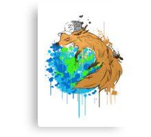 asleep on earth Canvas Print
