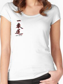 Yee Chuan Tao Calligraphy Kona, Hawaii Women's Fitted Scoop T-Shirt