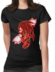 Neon Knuckles The Echidna Womens Fitted T-Shirt