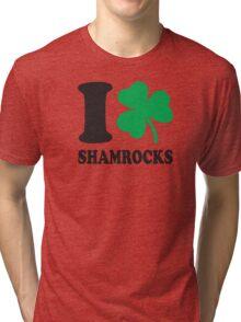 St. Patrick's day: I love shamrocks Tri-blend T-Shirt