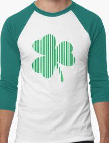 St. Patrick's day: Shamrock Barcode Men's Baseball ¾ T-Shirt