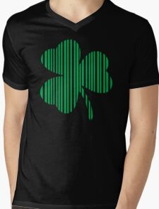 St. Patrick's day: Shamrock Barcode Mens V-Neck T-Shirt