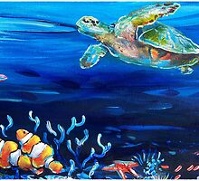 Barrier Reef by debbroughtonart