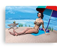 Girl under the Sun Canvas Print