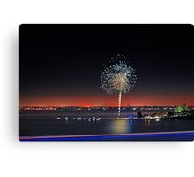 Point Walter Fireworks  Canvas Print